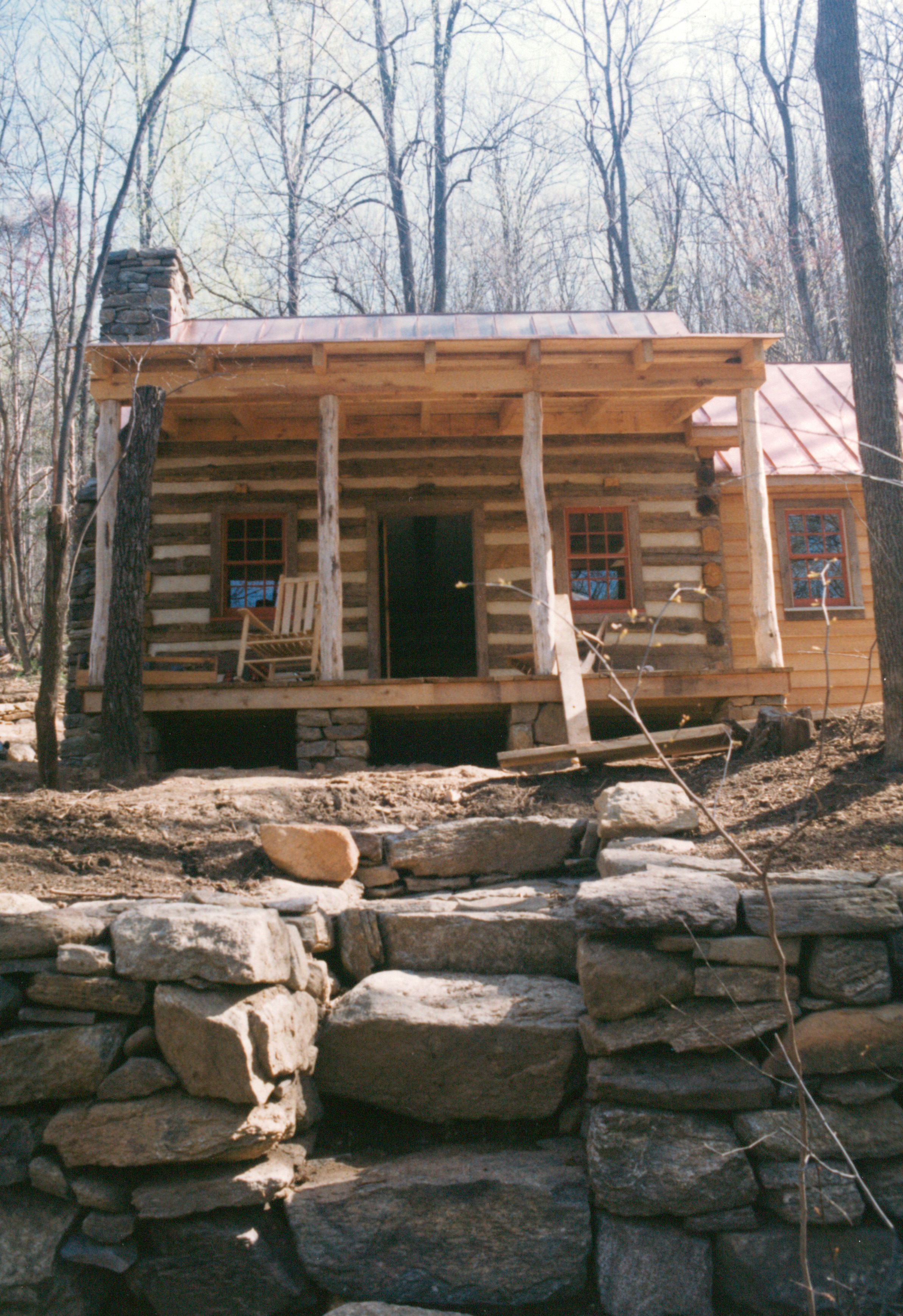 Part two of building a rustic cabin handmade houses for How to build a stone cabin