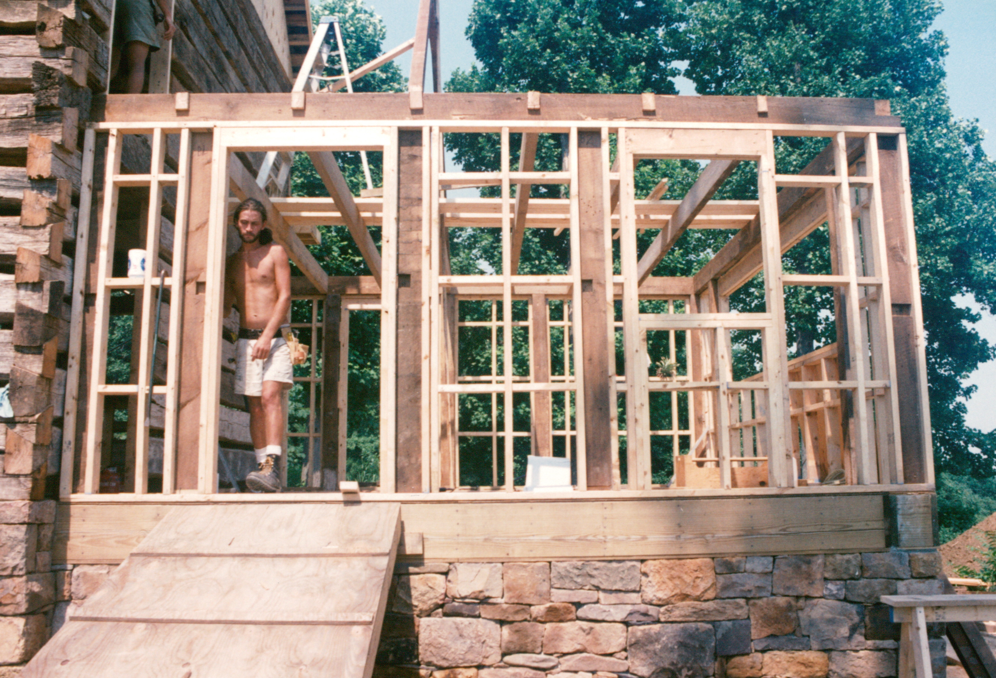Stick Built And Timber Frame Combined Handmade Houses