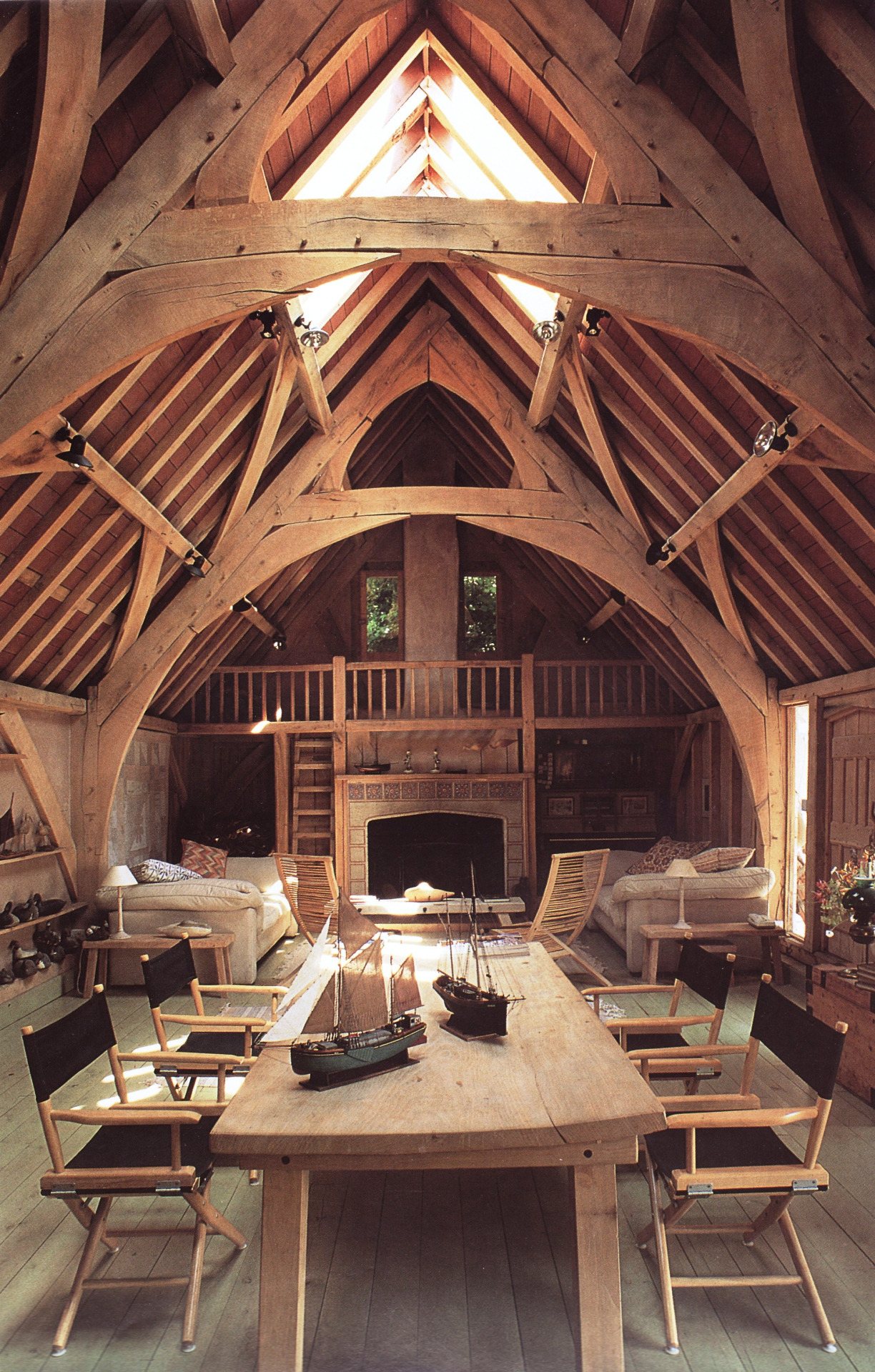 The beauty of a cruck frame handmade houses with noah for Cruck frame house plans