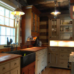 A log cabin kitchen
