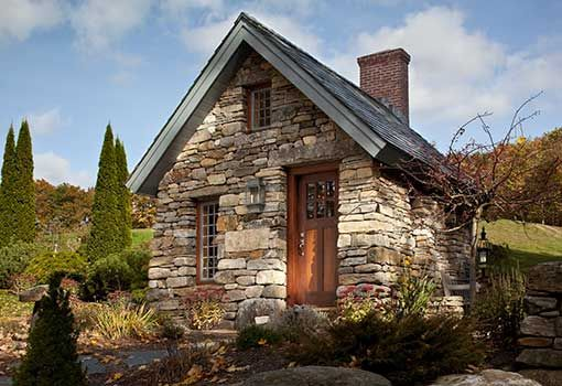 Cedar timber stone home joy studio design gallery best Stone cottage kit homes