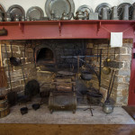 A colonial fireplace