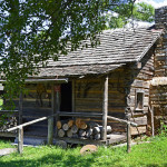 Old hewn cabin
