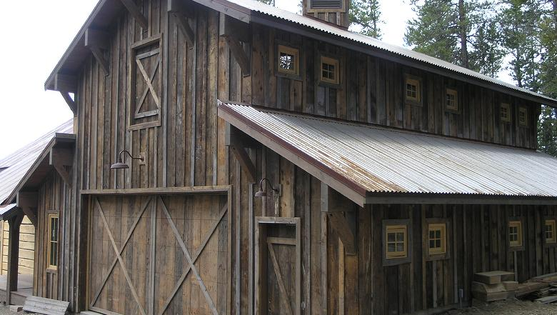 Rough sawn siding and quot barn tin handmade houses with
