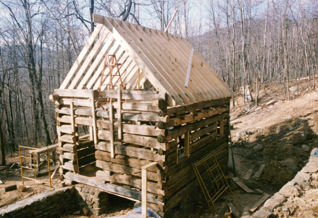 Part three of building a rustic cabin handmade houses for Build rustic log cabin
