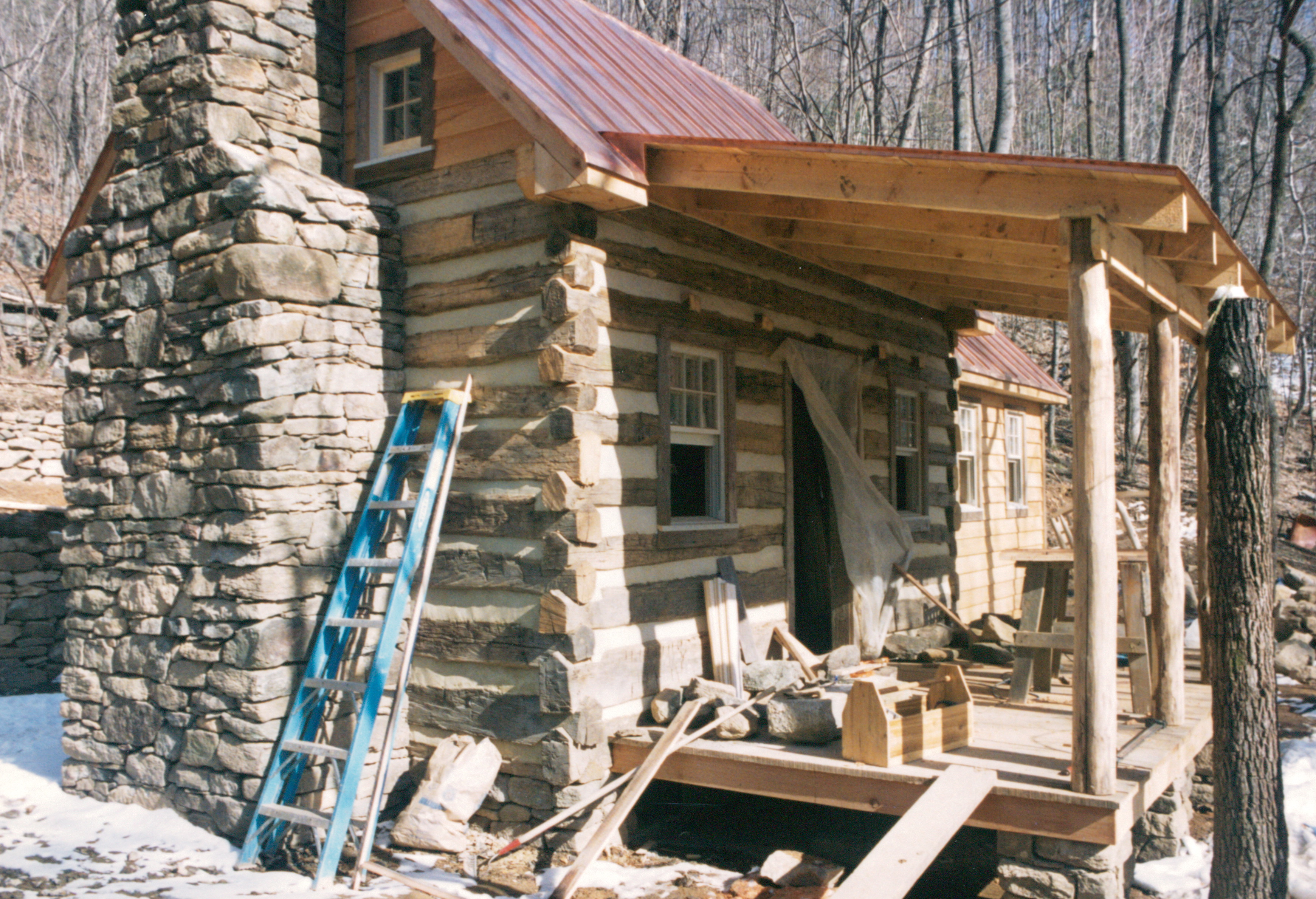 Part two of building a rustic cabin handmade houses How much to build a house in northern virginia