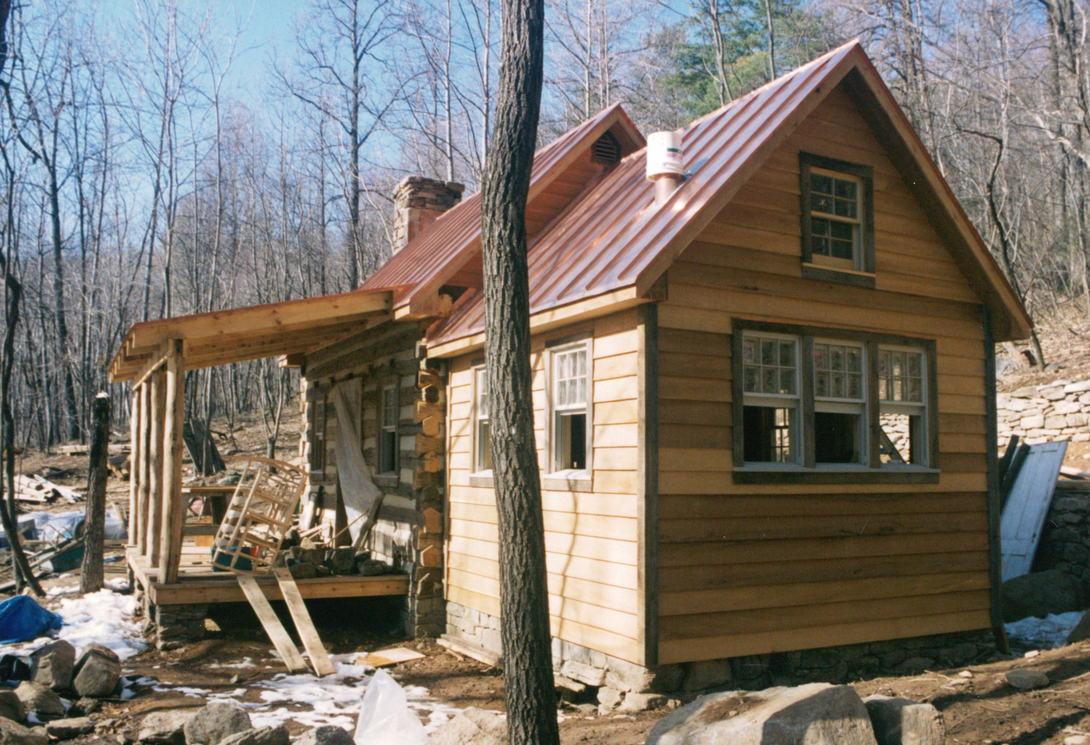 Part four of building a rustic cabin handmade houses for Small cottages to build