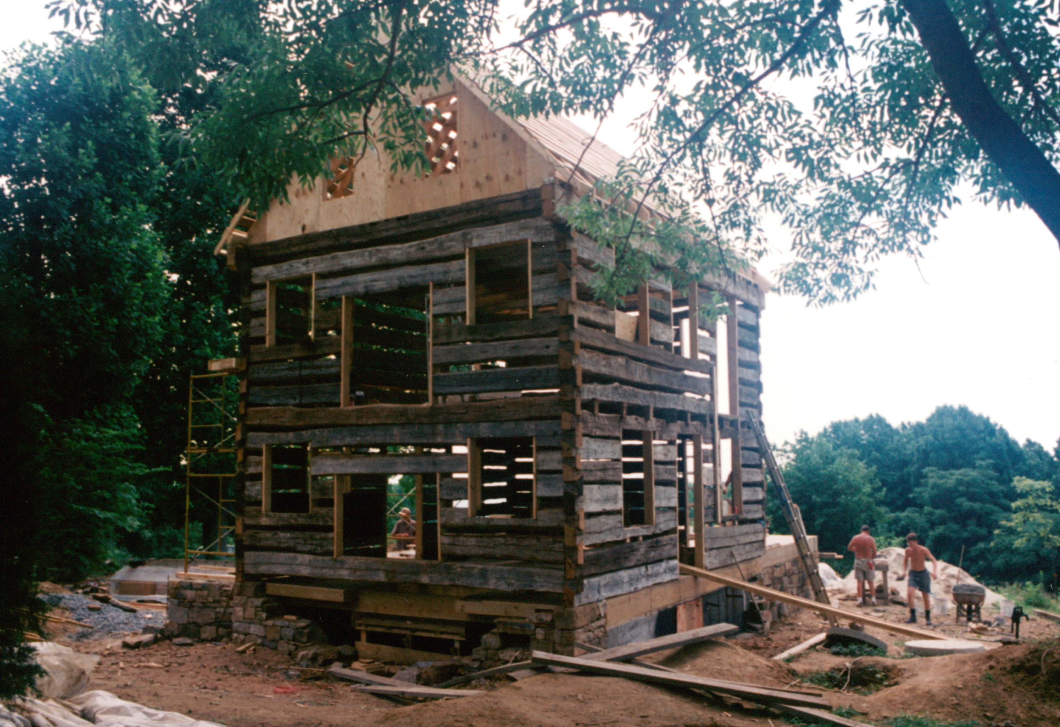 Re Notching An Antique Log Cabin Handmade Houses