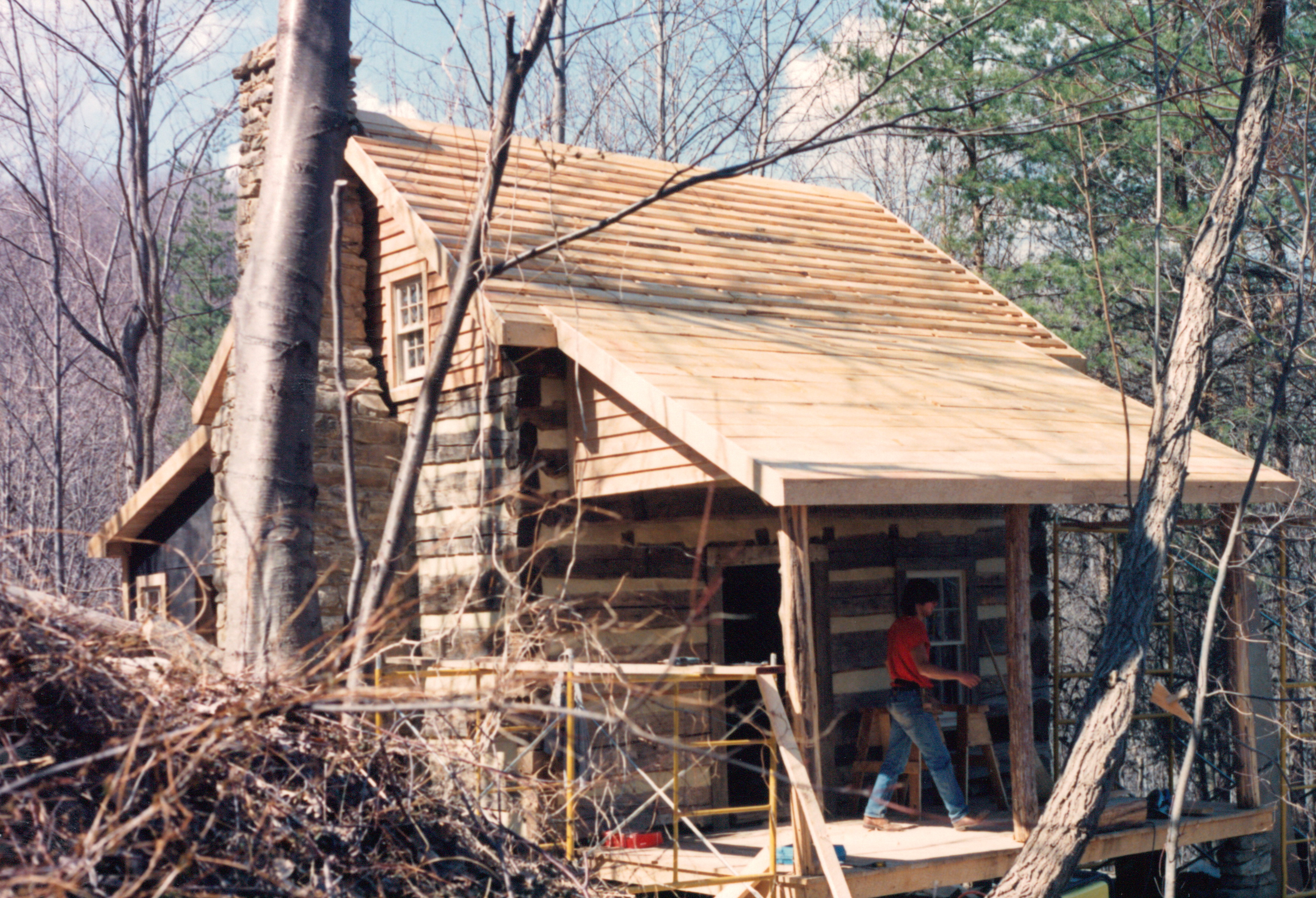 Beau As You Can See In This Photo, We Had Come Far In The Restoration Of This  Fine Little Cabin. The Logs Are Now Chinked, The Porch Has Been Rebuilt, ...