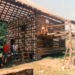 A double pen log barn… part 18
