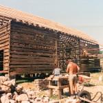 A double pen log barn… part 16