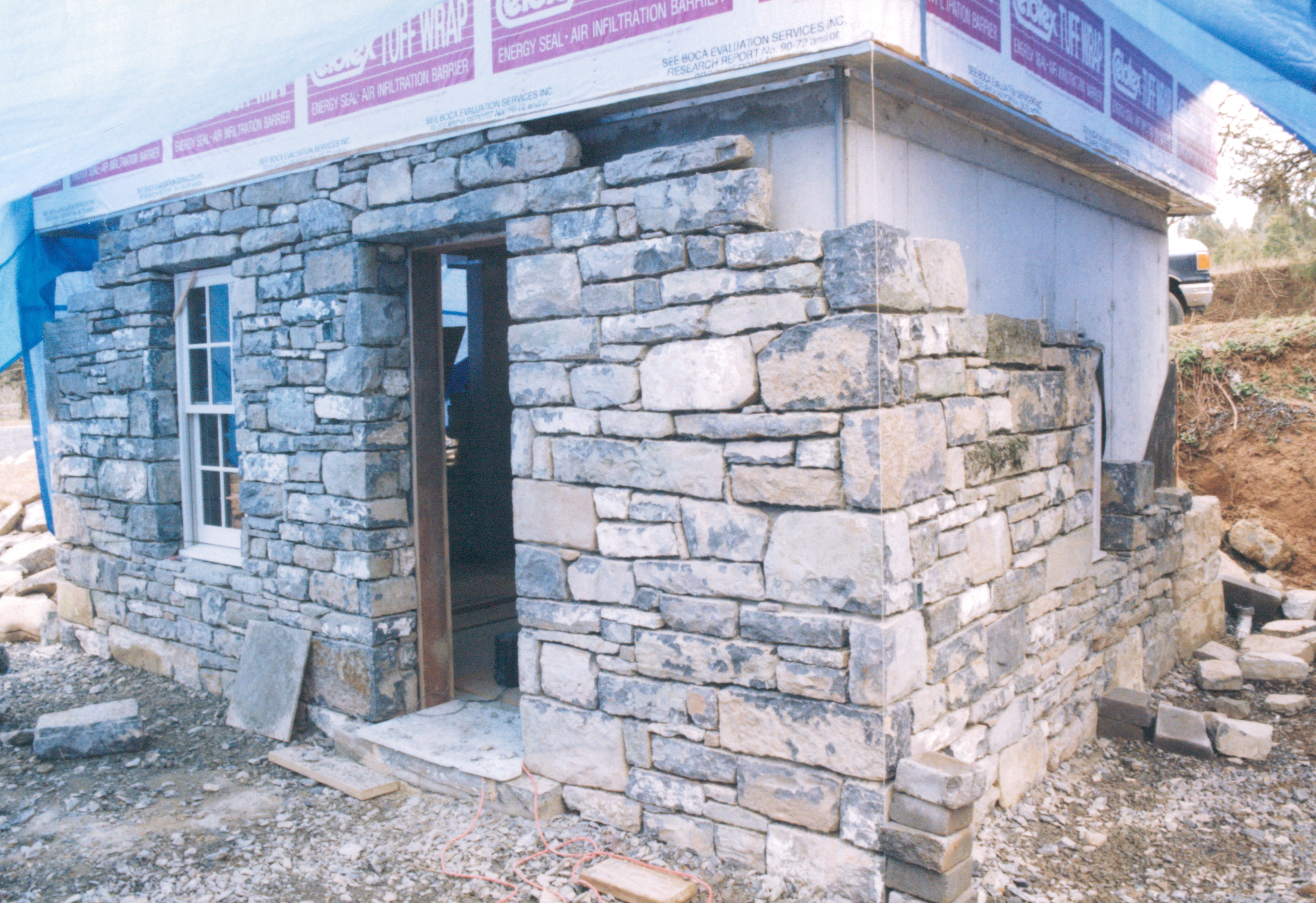 Decorative Stone Homes : Rope pointing handmade houses with noah bradley