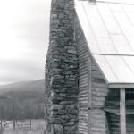 A dry laid chimney