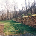 A stone retaining wall… part 2