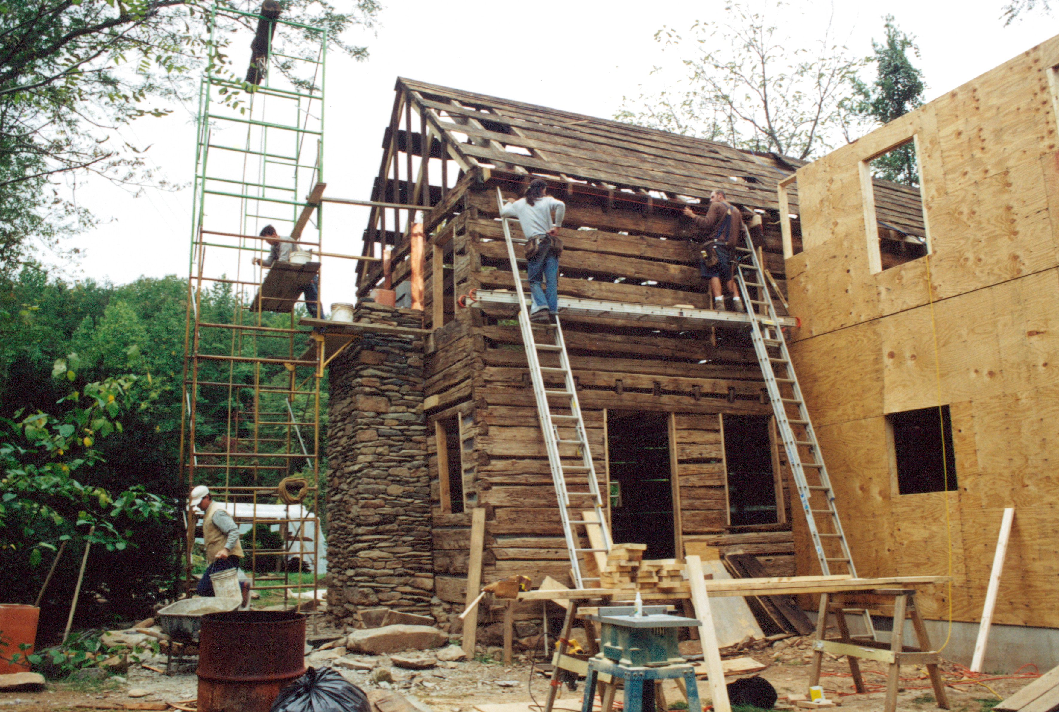 Log cabin restoration part 12 handmade houses with for Log cabin restoration