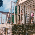 Stick-built and timber-frame combined