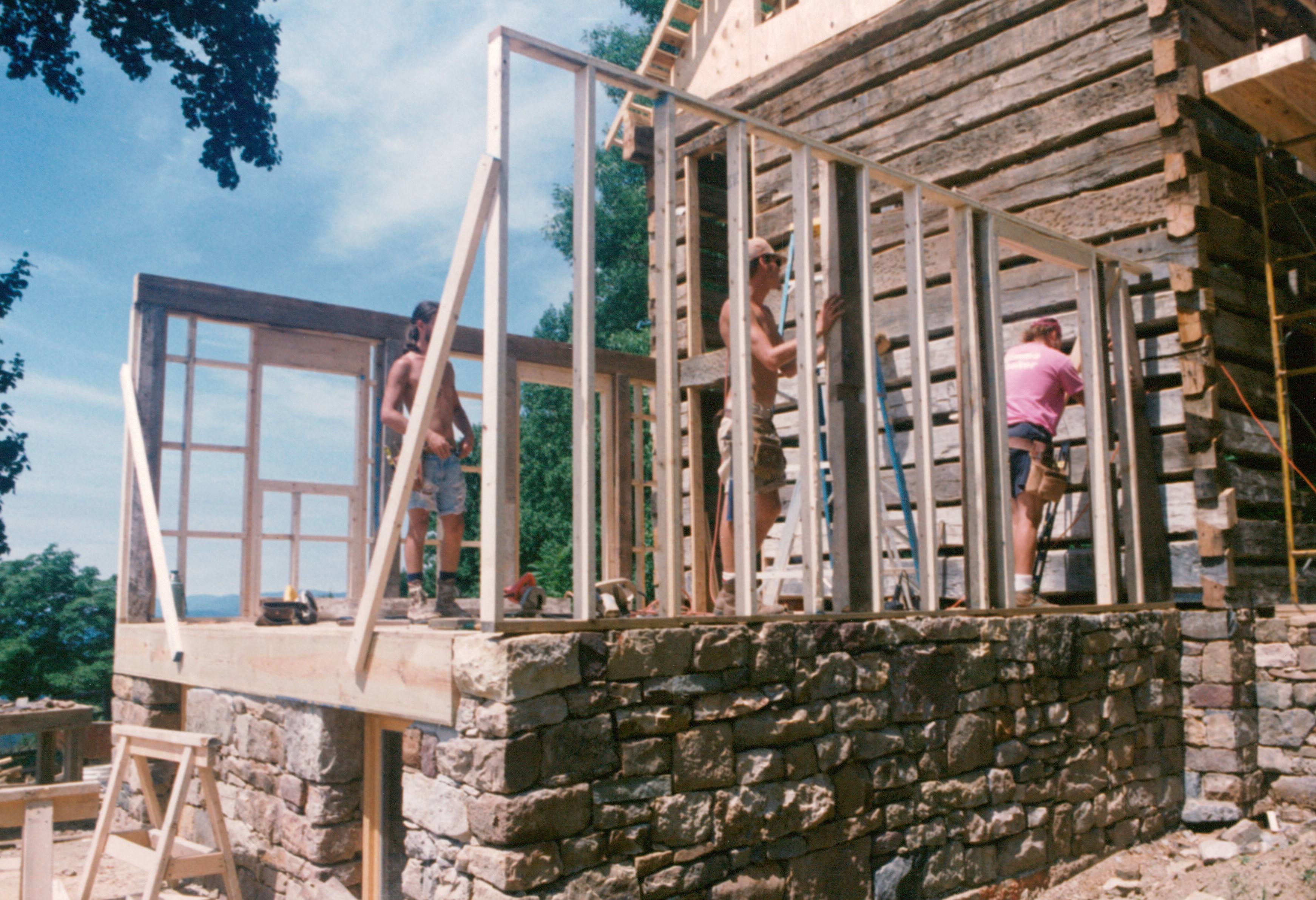 Stick-built and timber-frame combined | Handmade Houses... with Noah ...