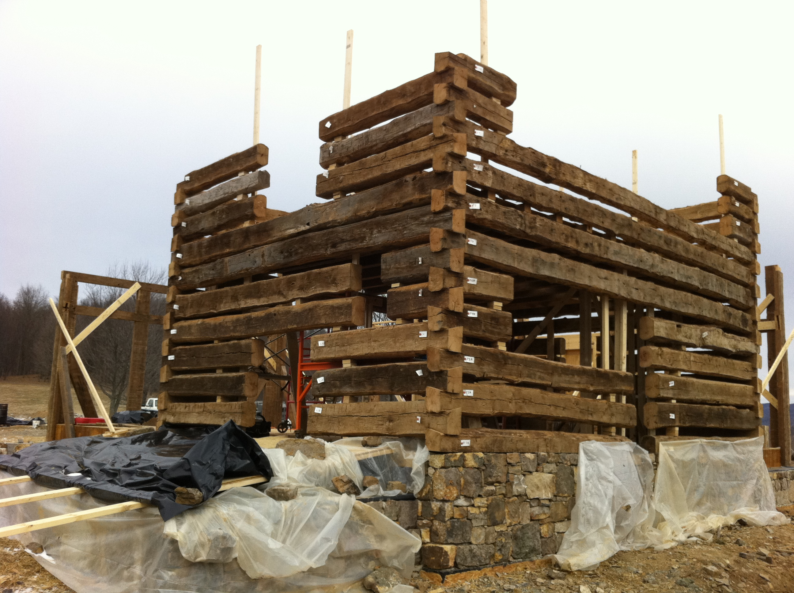 log cabin construction details handmade houses with