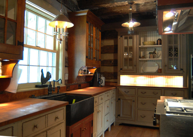 Hereu0027s A Really Nice Kitchenu2026 Butu2026 I Try To Persuade My Clients Away From  Having A Log Kitchen Becauseu2026 A) The Kitchen Cabinets Cover Up Most Of The  Logsu2026 ...