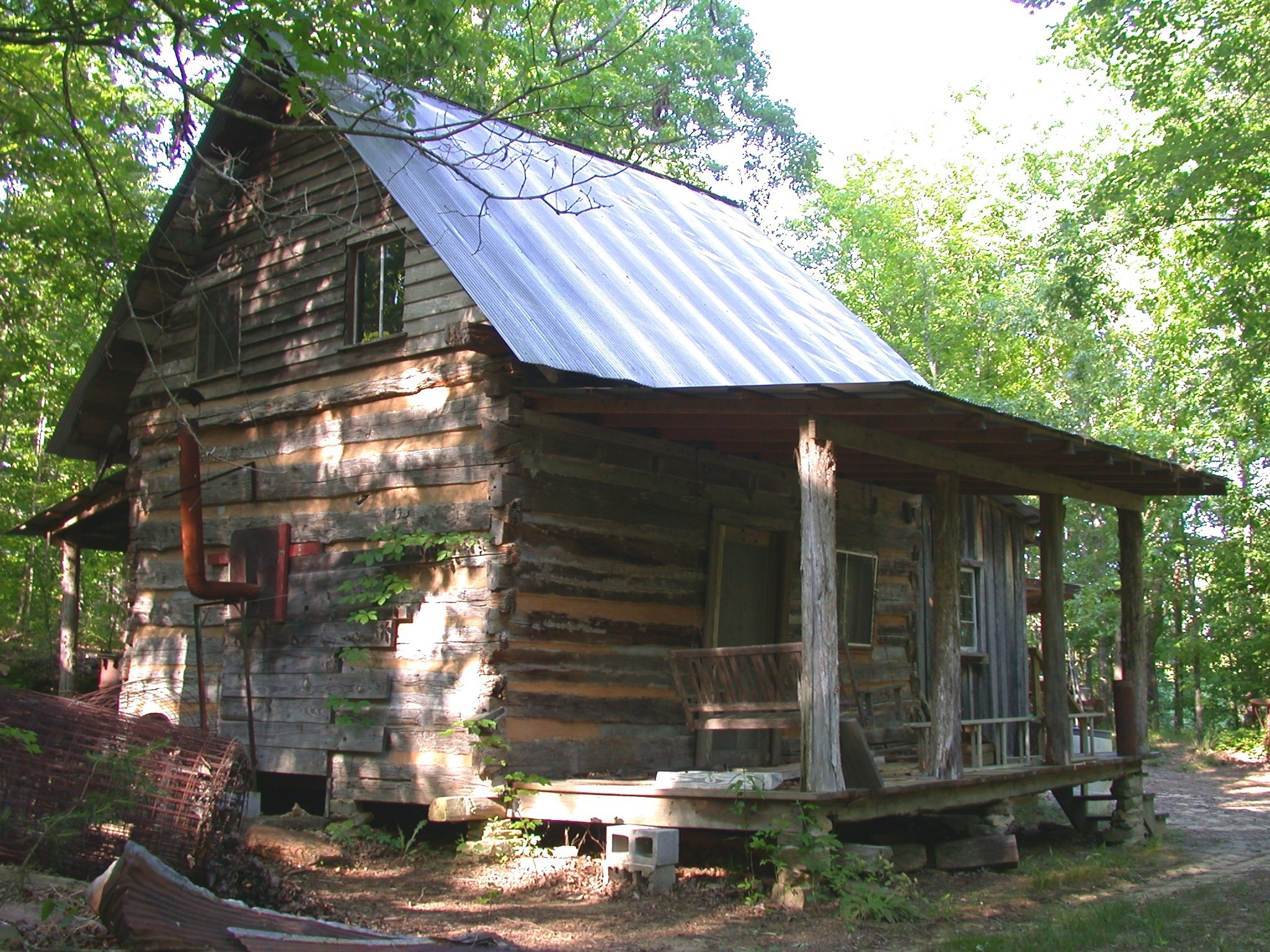 Do it yourself metal roofing handmade houses with for Log cabin sunrooms