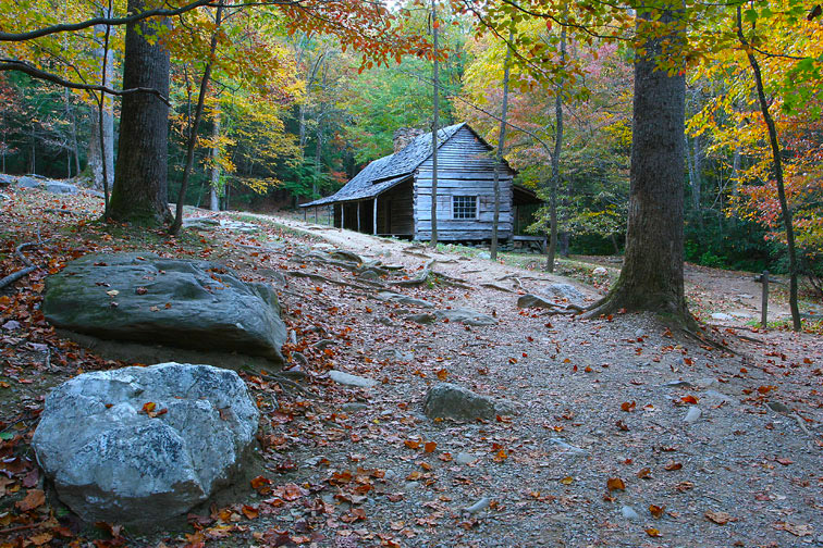 Backwoods cabin handmade houses with noah bradley for Gatlinburg cabins with fishing access