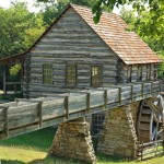 An old log gristmill