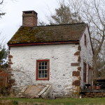 A painted stone cottage