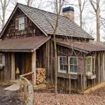 A board-and-batten retreat home
