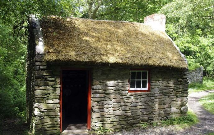 Irish stone cottage handmade houses with noah bradley for How to build a stone cabin