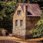 """Overbuilt"" stone home"