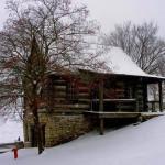 A hillside cabin