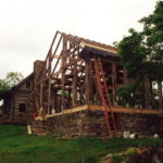 Timber frame and log… together
