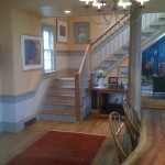 Adding an antique staircase to a new home