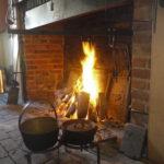 A fireplace vs a woodstove